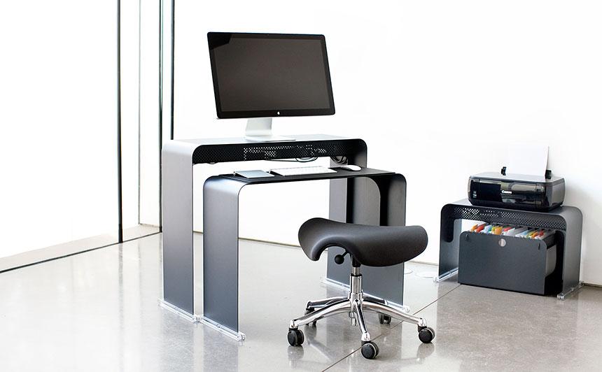 Onelessdesk Bureau Ultra Fin En Mtal