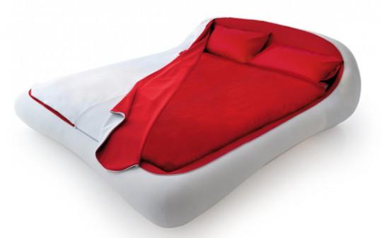 Zip bed Letto zip rouge et blanc original