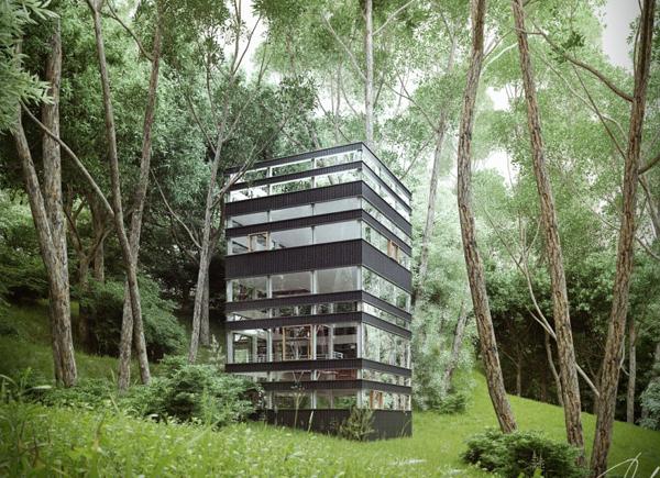 Maison Japonaise Verticale Par Ando Studio