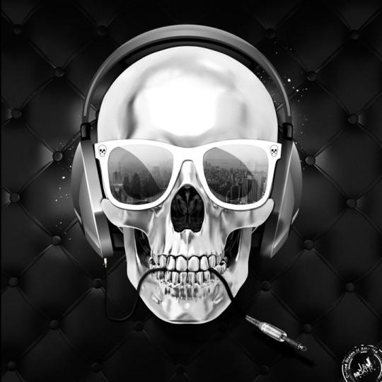 Tableau Tte De Mort Skull Fashion JampJ Moatti