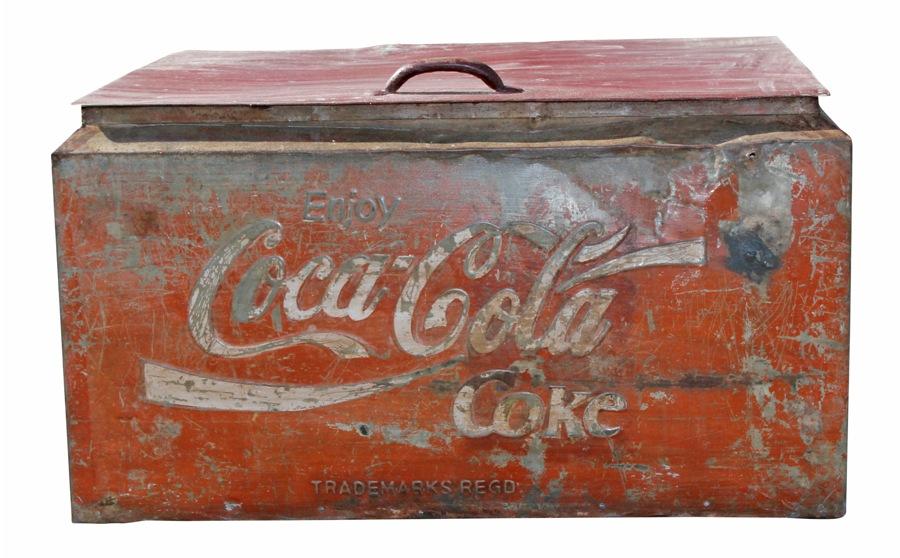 Caisse En Fer Vintage Coca Cola