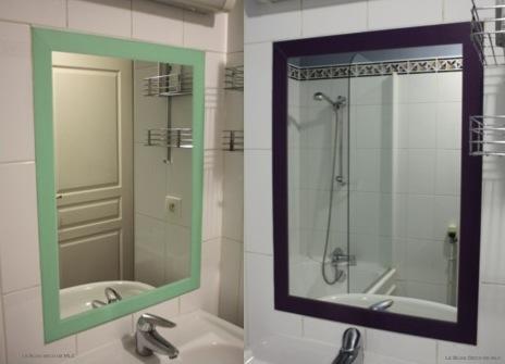 DIY-miroir-encadrement-masking-tape-vert-violet