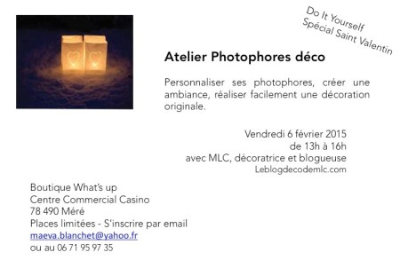 invitation atelier photophore