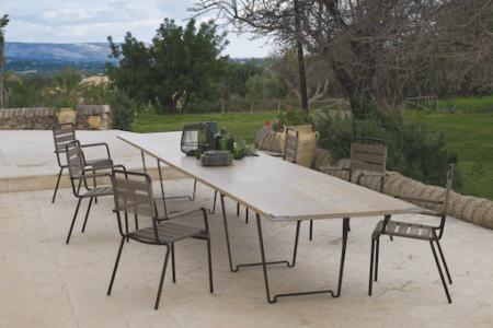 Quelles-tables-chaises-extérieur-choisir-nouveautés-rectangle-Unopiù-Ferruccio Laviani