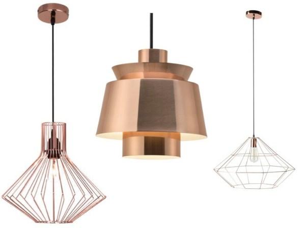 luminaire cuivre nouveauté suspension géométrique