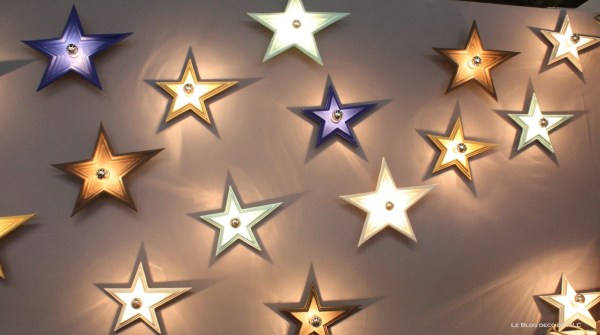 etoile star applique murale