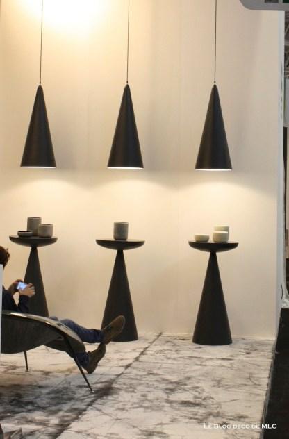 luminaires suspension cone noir