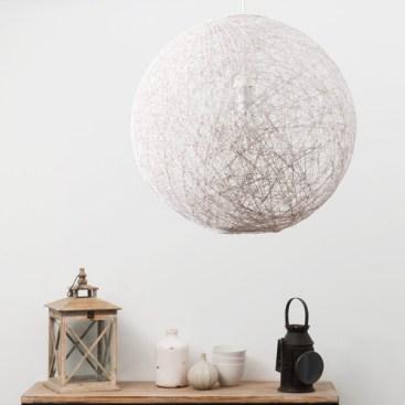 suspension boule rotin maison du monde