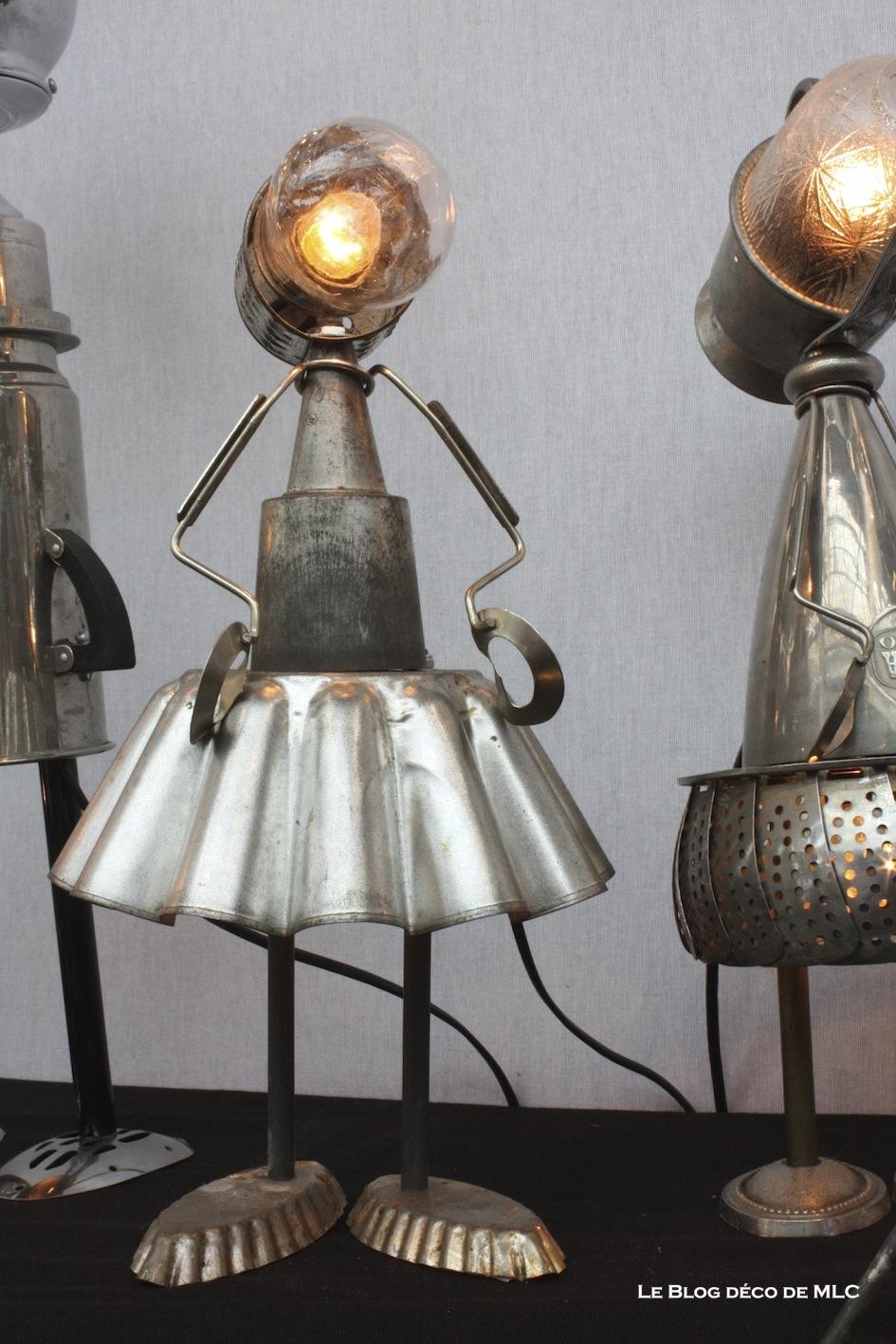 Luminaire cafetière - Ustensile et vaisselle transformés en lampe