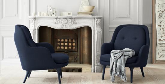 nuance-bleu-pour-canape-fauteuil-fritz Hansen-silvera