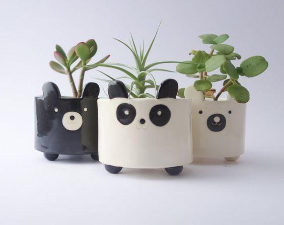 petit cache pot tete de panda