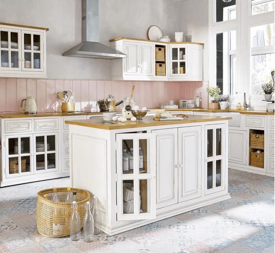 ilot cuisine blanche maison du monde
