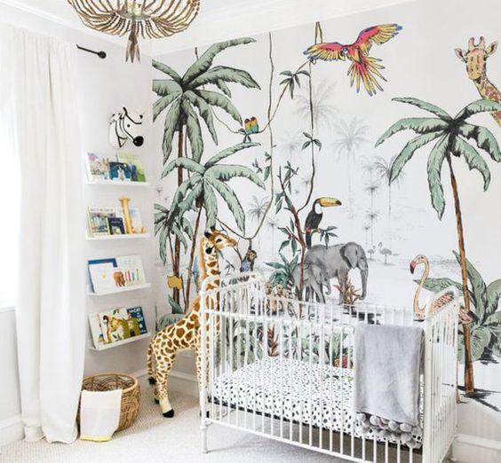 tropicale dans la chambre enfant
