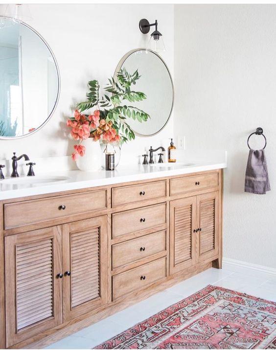 tapis persan dans la salle de bain