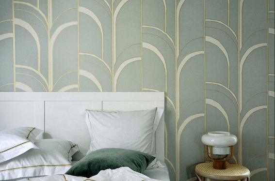 papier peint arche blanche deco design