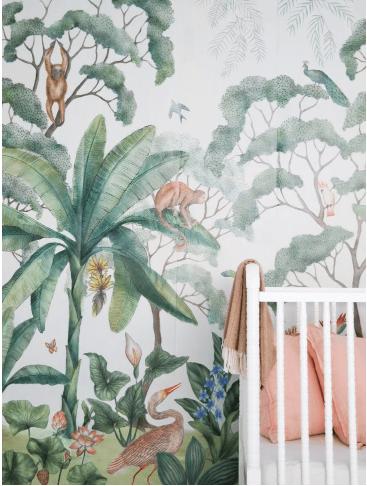 papier peint enfant tropical