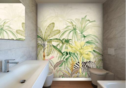 papier-peint-salle-de-bain-tropical