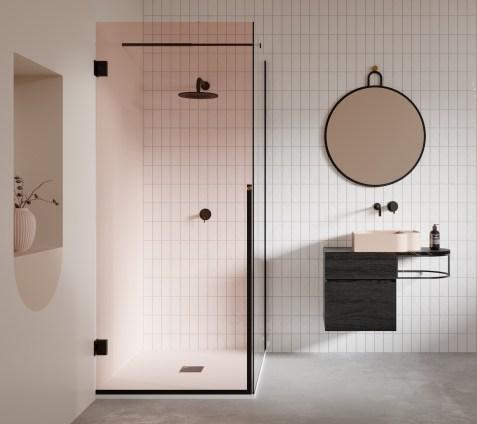 salle de bain deco design carrelage faience quadrillage blanc et noir