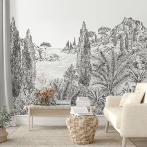 nouveau-papier-peint-paysage-panoramique-blanc-et-noir-tropical
