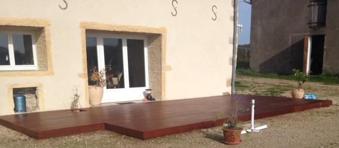 Terrasse lisse en Merbau huilé