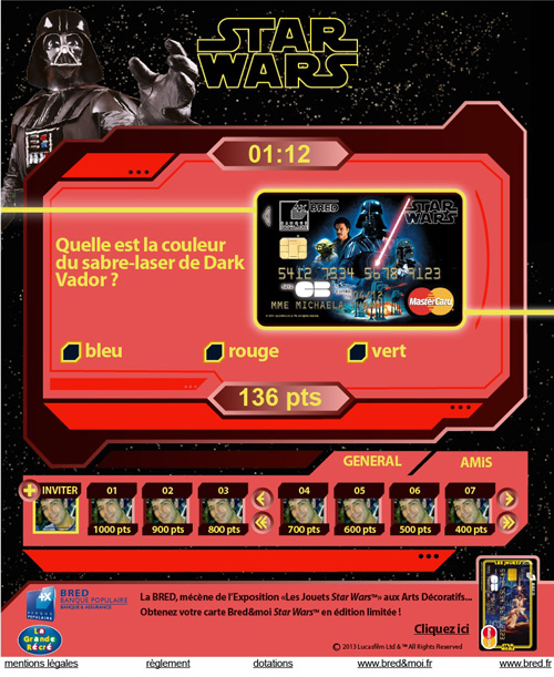 Jeu Facebook La Bred Star Wars