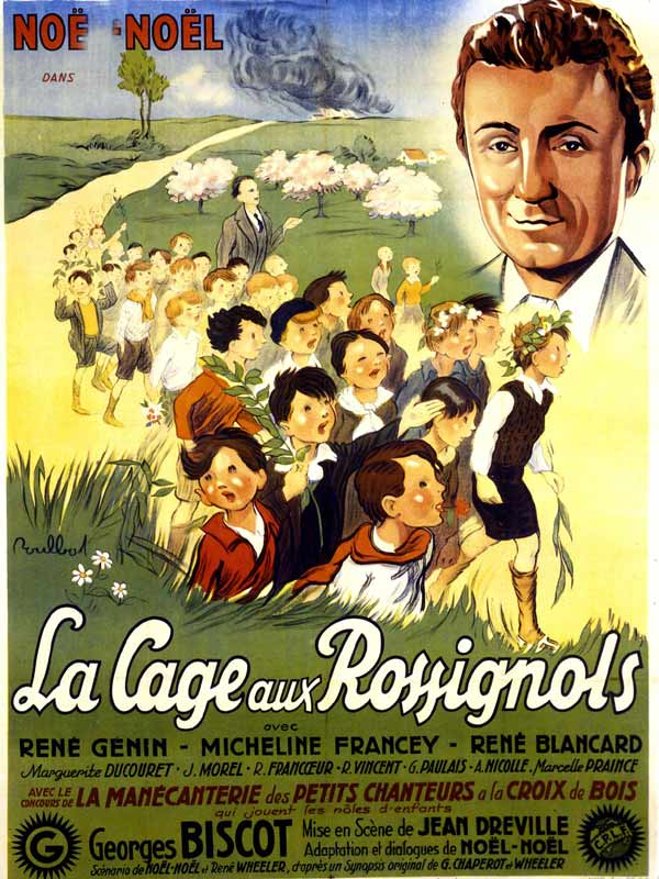 Affiche du film LA CAGE AUX ROSSIGNOLS