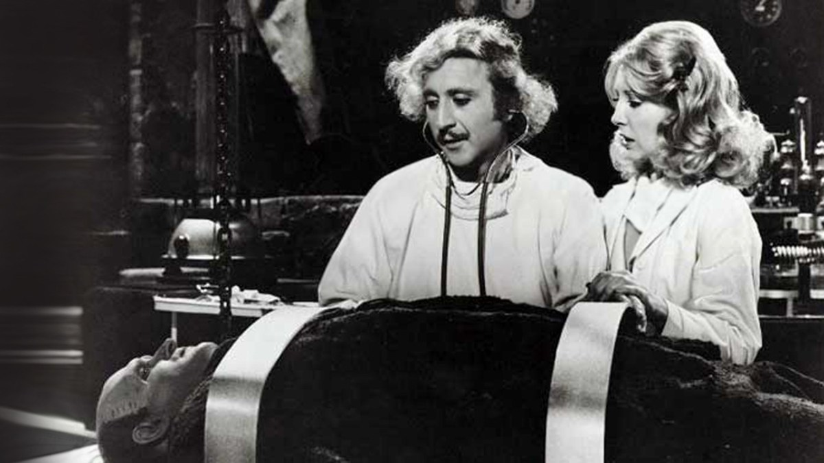 Gene Wilder et Teri Garr (Frankenstein Junior, 1974)