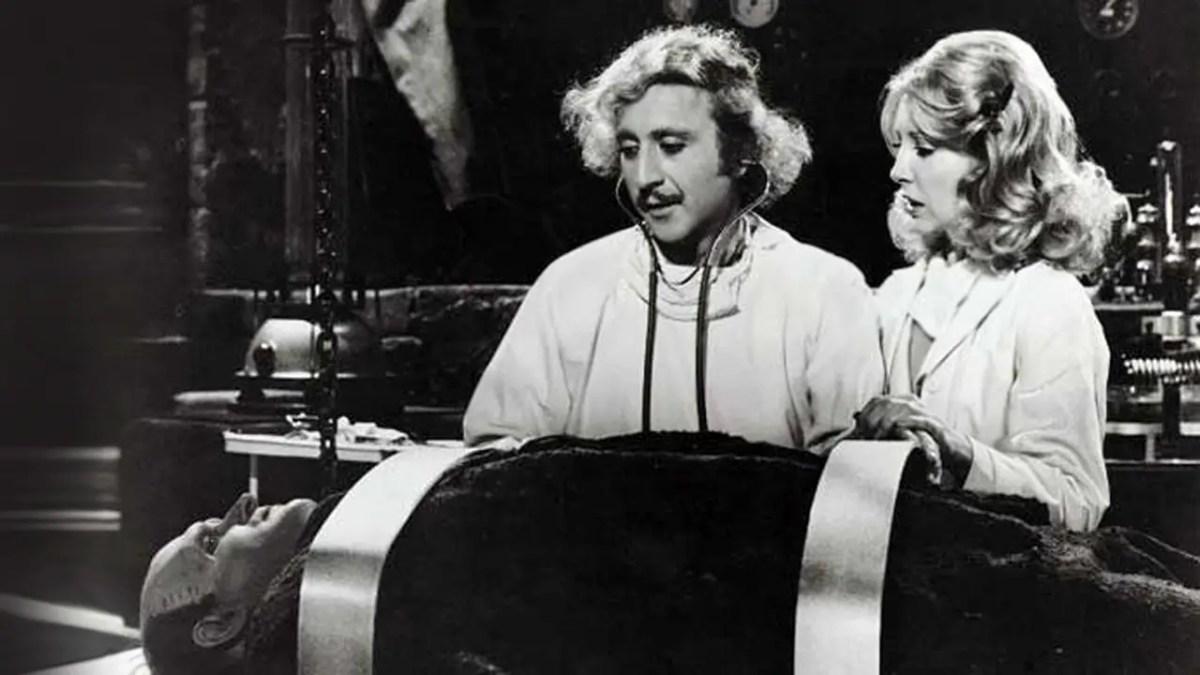 Gene Wilder et Teri Garr (Frankenstein Junior, 1974)