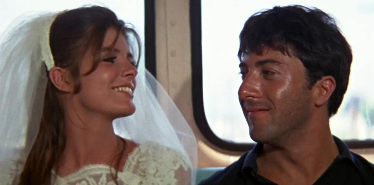 Katharine Ross et Dustin Hoffman (Le Lauréat de Mike Nichols, 1967)