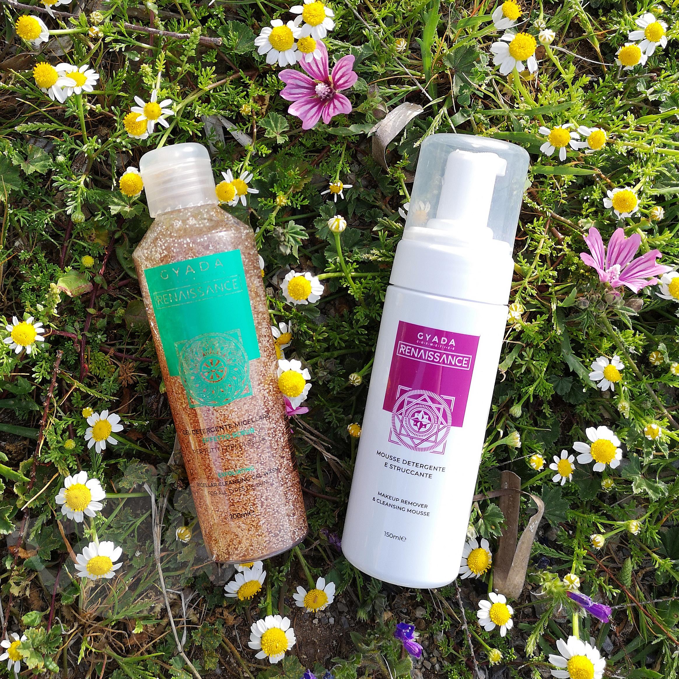 Gyada e la linea Reinassance – mousse detergente e gel scrub