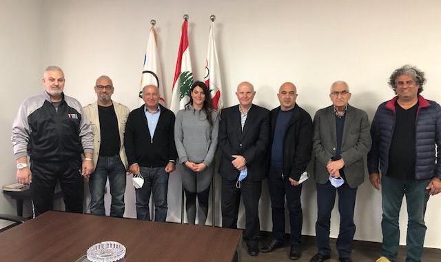 """جلخ وأعضاء اللجنة التنفيذية للأولمبية اللبنانية ناقشوا مع الرامية باسيل تحضيرات """" طوكيو 2020 """""""