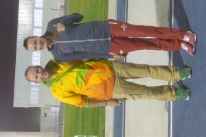 Avec Laura Ikauniece, championne d'heptathlon