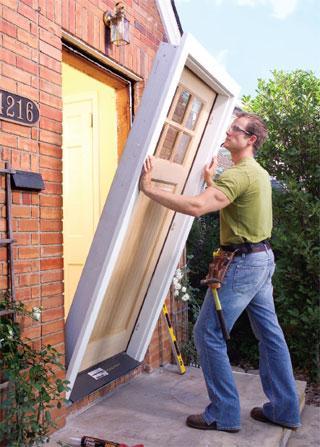 comment installer une porte dentre
