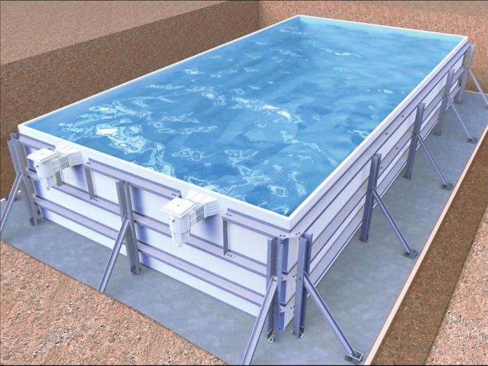 la piscine en kit panneaux acier r aliser soi m me le. Black Bedroom Furniture Sets. Home Design Ideas