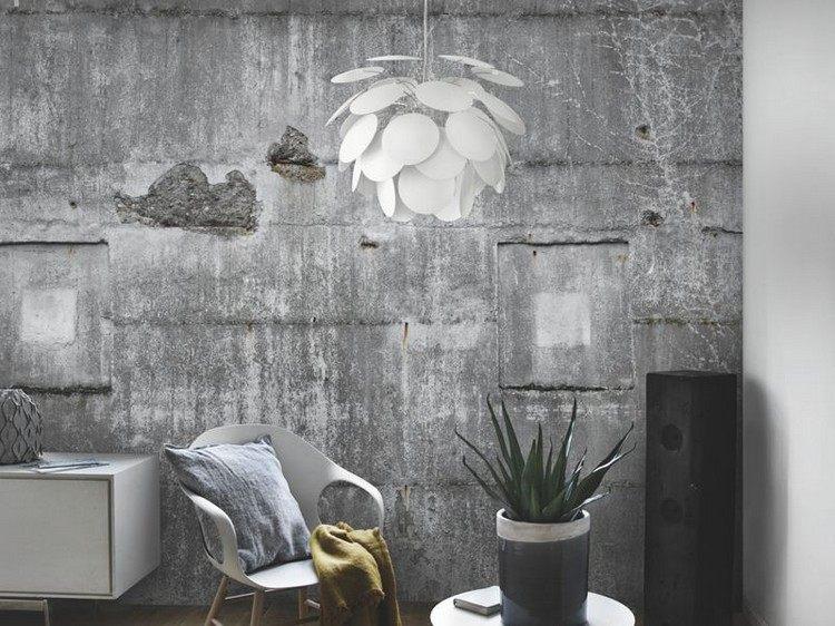 papier peint imitation beton brut rasch