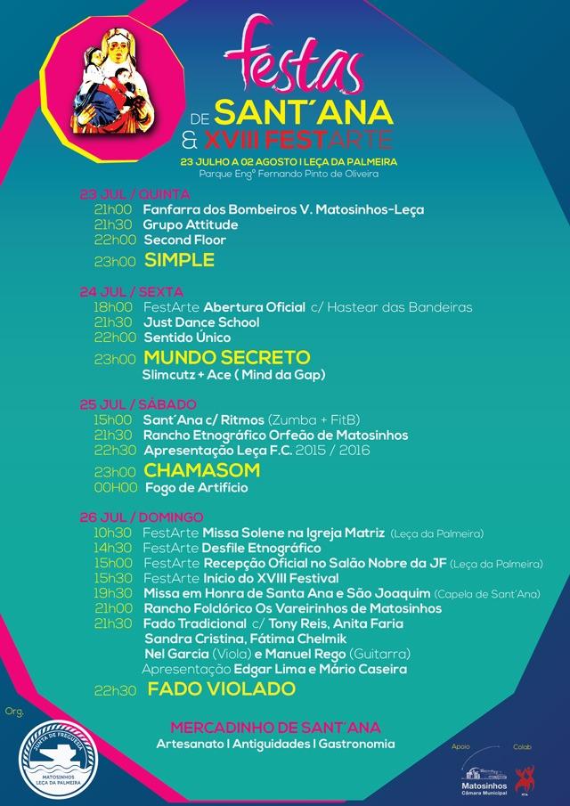 Programa Festas Santana 2015