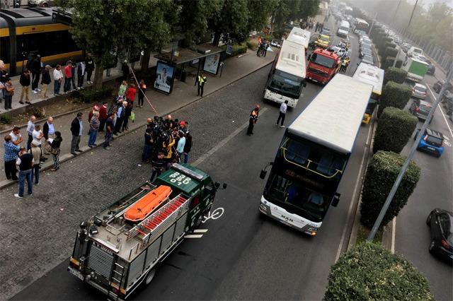 Autocarro despista-se em Matosinhos