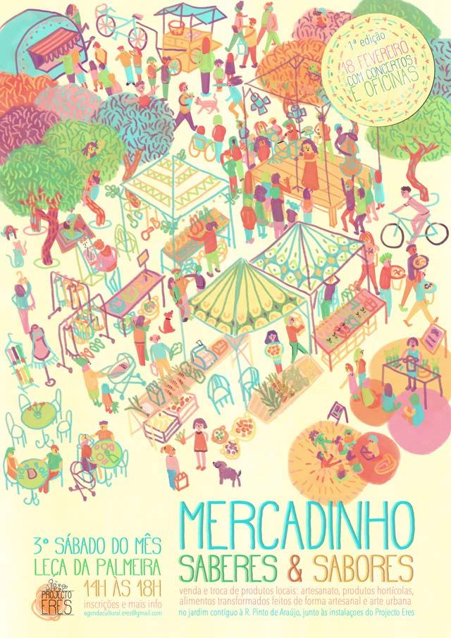 Cartaz: «Mercado de Saberes e Sabores»