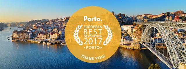 Cidade do Porto - Melhor Destino Europeu 2017