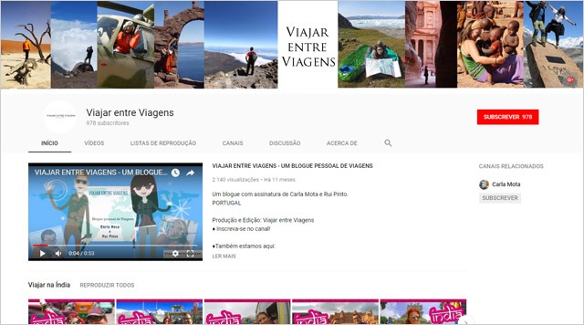 Viajar entre Viagens - You Tube