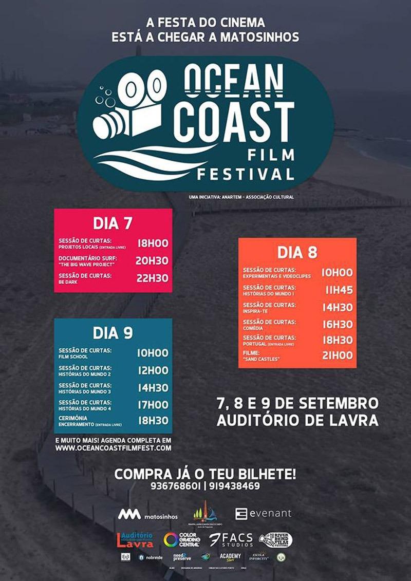 Cartaz Ocean Coast Film Festival - Festival de Cinema de Matosinhos