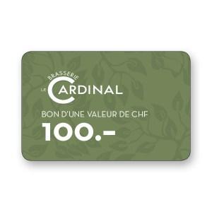 100.- CHF Gutschein Brasserie Le Cardinal