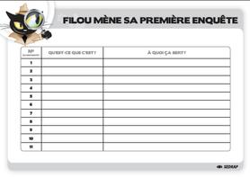 Conseils pour Filou mène l'enquête