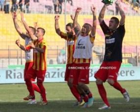 esultanza Lecce-Casertana