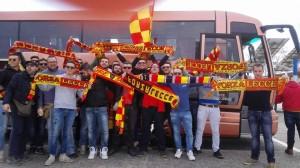 tifosi Lecce trasferta pullman Salento GialloRosso