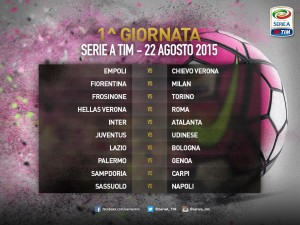1a giornata serie A 2015-16