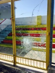 atti vandalici stadio Bianco Gallipoli