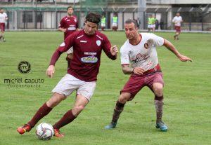 Alessandro Romeo in azione nella partita contro il Manfredonia