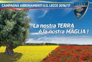 Campagna abbonamenti U.S. Lecce 2016-'17 slogan