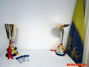 sede U.S. Lecce trofei e bandiera